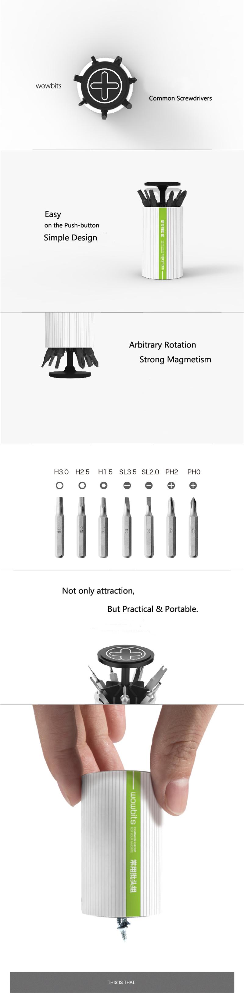 21Pcs Wowbits Professional 4mm Hex Electric Screwdrivers S2 Alloy Steel Magnetic Screw Bits Set