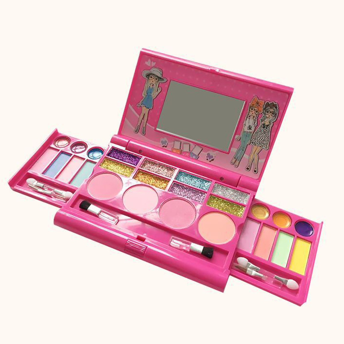 Princess Makeup Set For Kids Cosmetic Girls Kit Miniature Eyeshadow Lip Gloss Blushes Beauty Decoration Toys