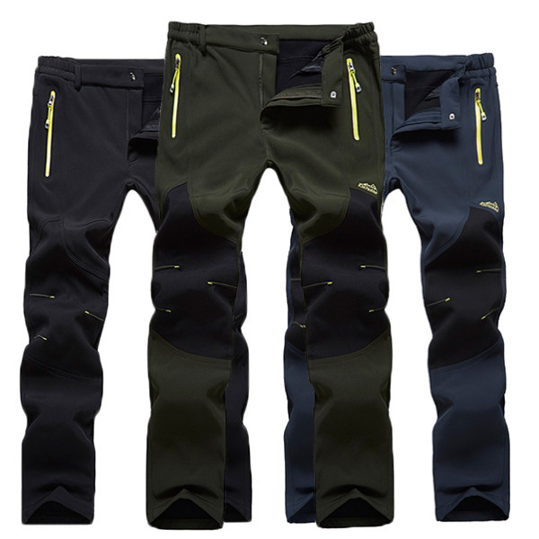 Autumn Winter Outdoor Sports Climbing Trousers Waterproof Warm Thick Lovers Assault Pants