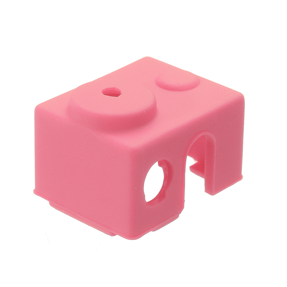 5pcs Pink Universal Hotend Block Insulation Sock Silicone Case For 3D Printer