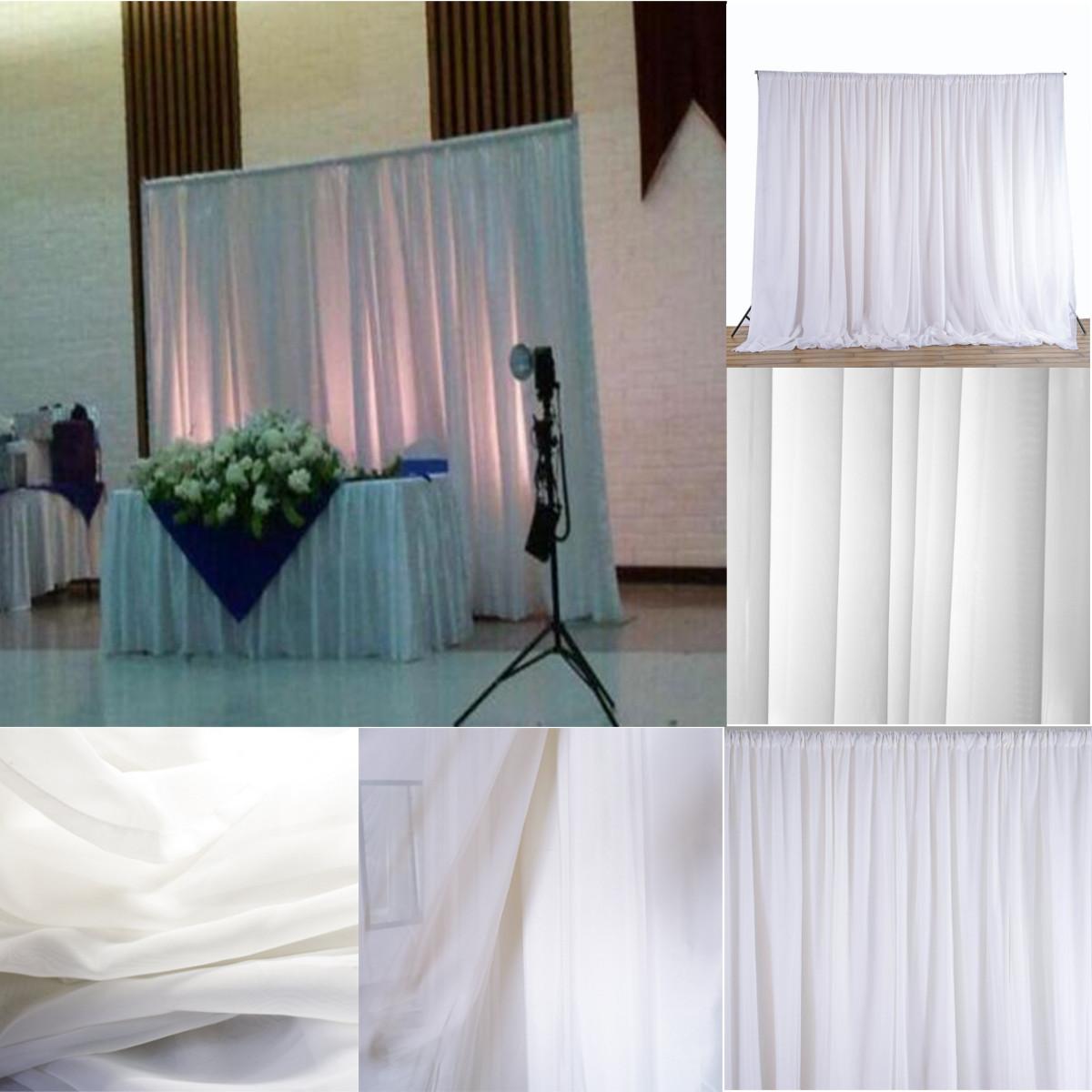 white sheer silk drapes panels hanging curtains backdrop home rh banggood com