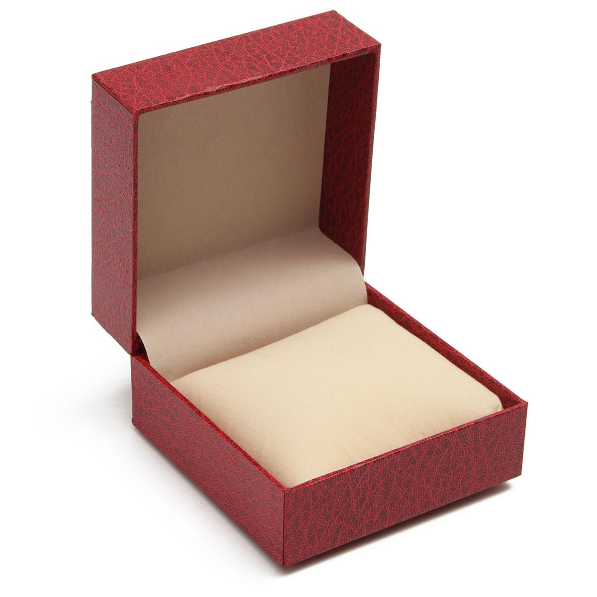 Red Clamshell Wristwatch Bracelet Jewelry Gift Display Storage Box Case Holder