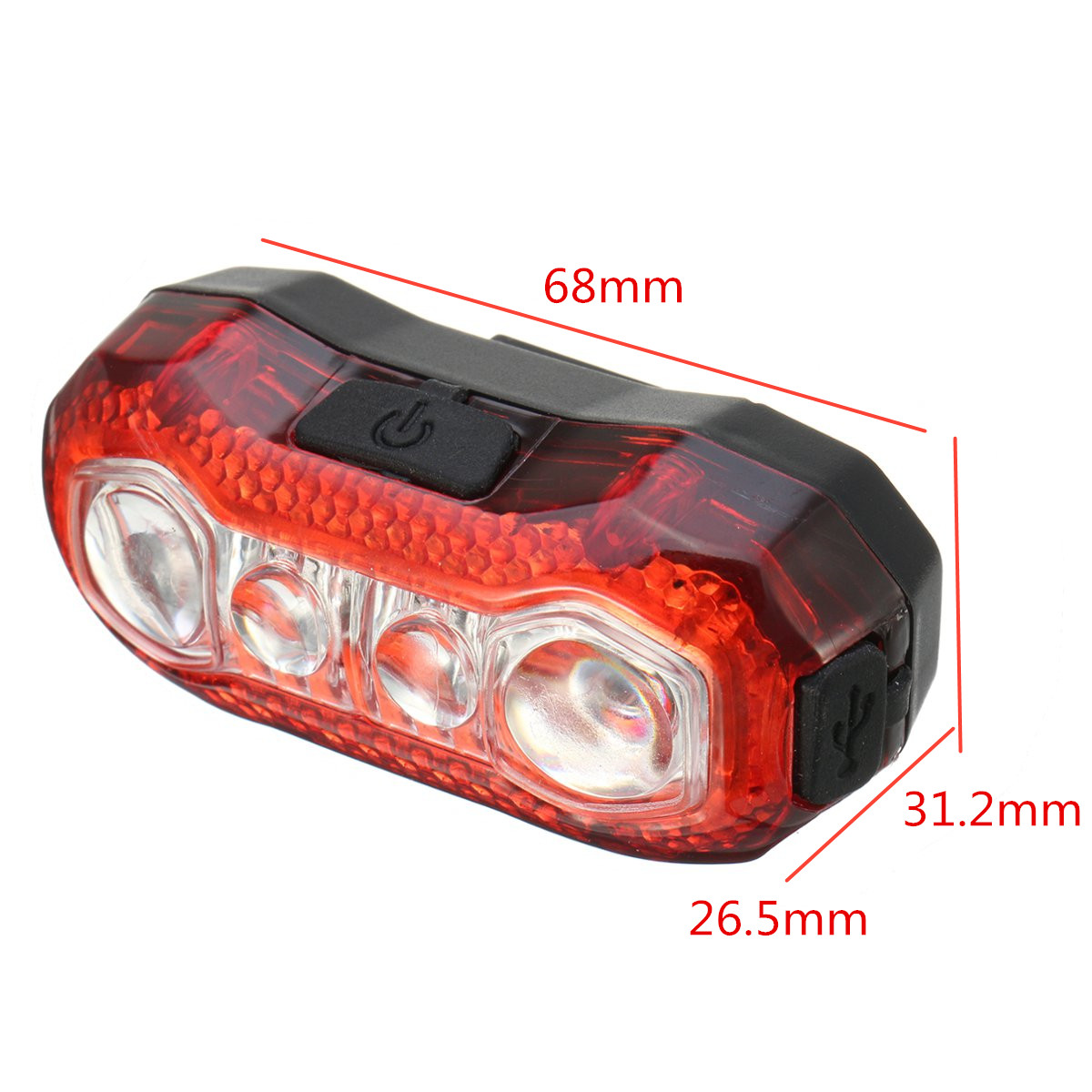 BIKIGHT 150LM Bicycle Light 4LED 5 Models USB Rechargeable Safety Front Tail Light