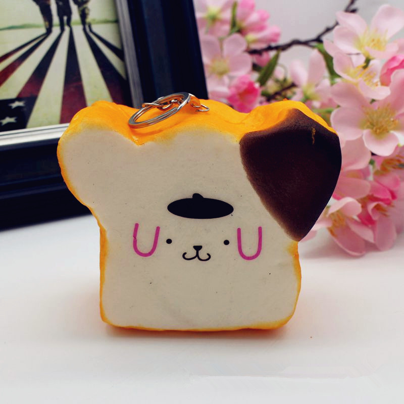 Squishy Jumbo Emoji Face Bread 8.5x4.5cm Slow Rising Cute Kawaii Collection Gift Decor Toy