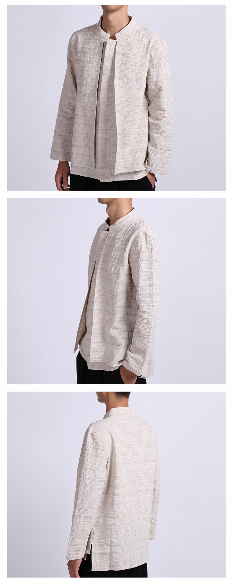 Vintage Chinese Style Linen Loose Spring Autumn Shirts Coat