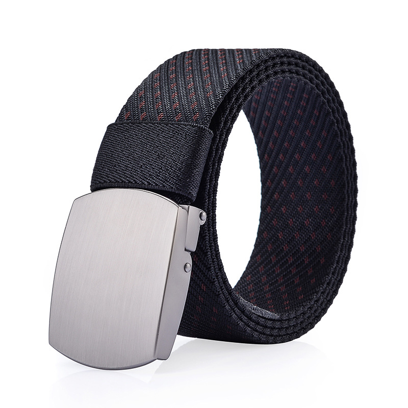 125CM Mens Women Nylon Alloy Buckle Belt Outdoor Casual Military Tactical Durable Pants Strips