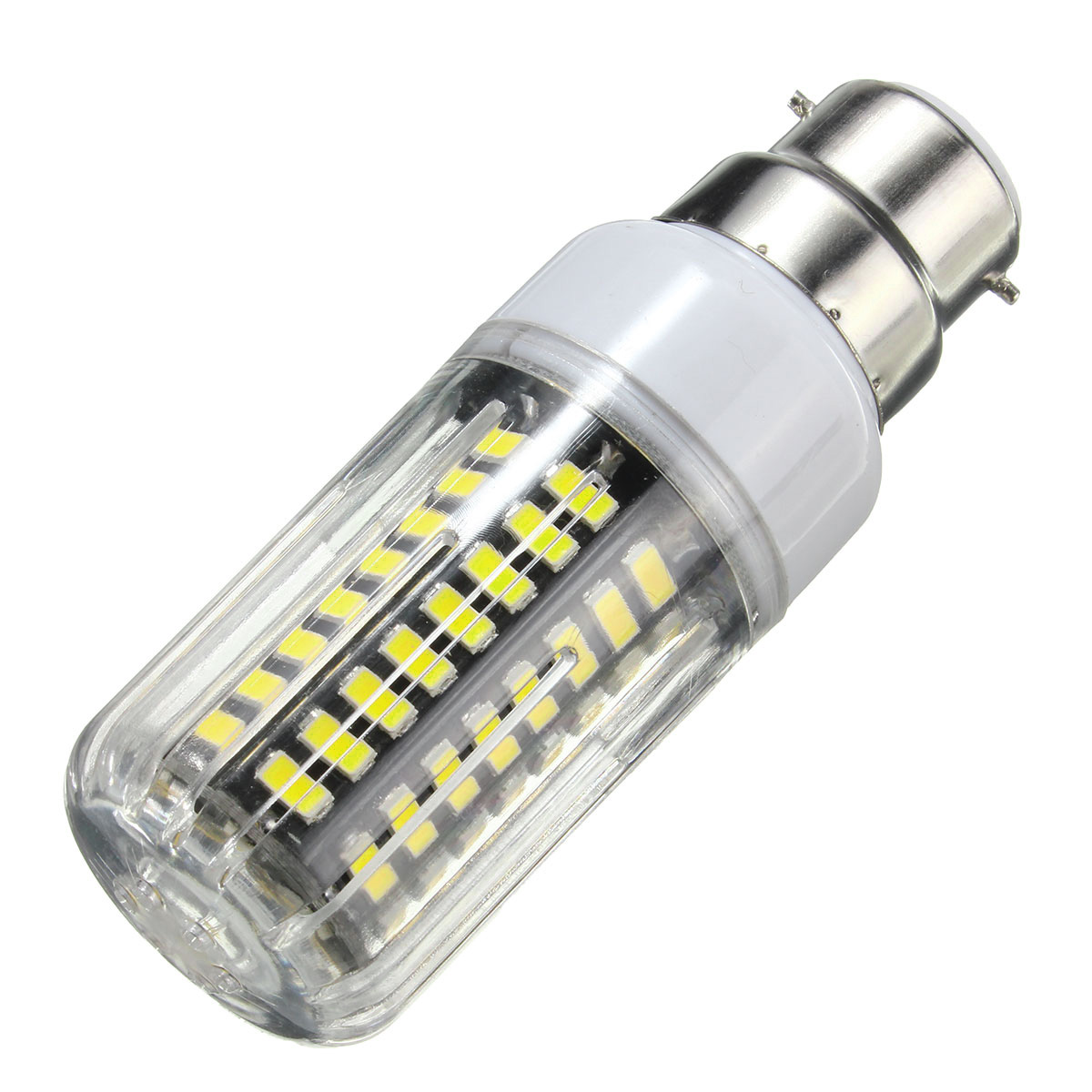 E27 E14 E12 B22 G9 GU10 7W 74 SMD 5730 LED Warm White White Cover Corn Bulb AC 220V
