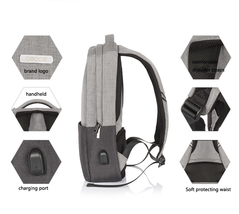 Multi-function Waterproof Charging Backpack Computer Digital Accessory Leisure Laptop Bag