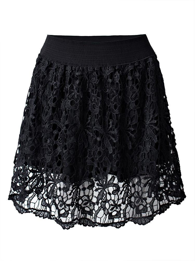 Sexy Crochet High Waist A-Line Women Mini Skirt