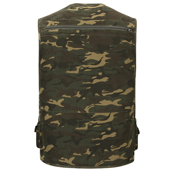 Cheap Mens Multifunctional Camouflage Pattern Quick Dry Outdooors Fishing Vest
