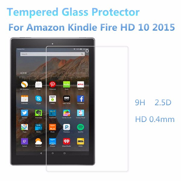 eBook Reader Tempered Glass Screen Protector For Kindle Fire HD 10 2015 9H 2.5D 0.4mm