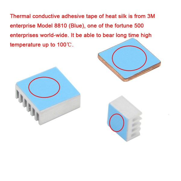 Aluminum Heat Sink Copper Heat Sink For Raspberry Pi 3 Model B / Pi 2 / B+