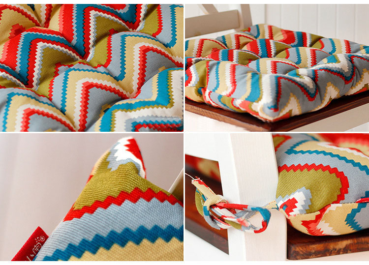 Korean Style Striped Chair Cushion Fashion fabric Elasticity Cotton Seat Cushion