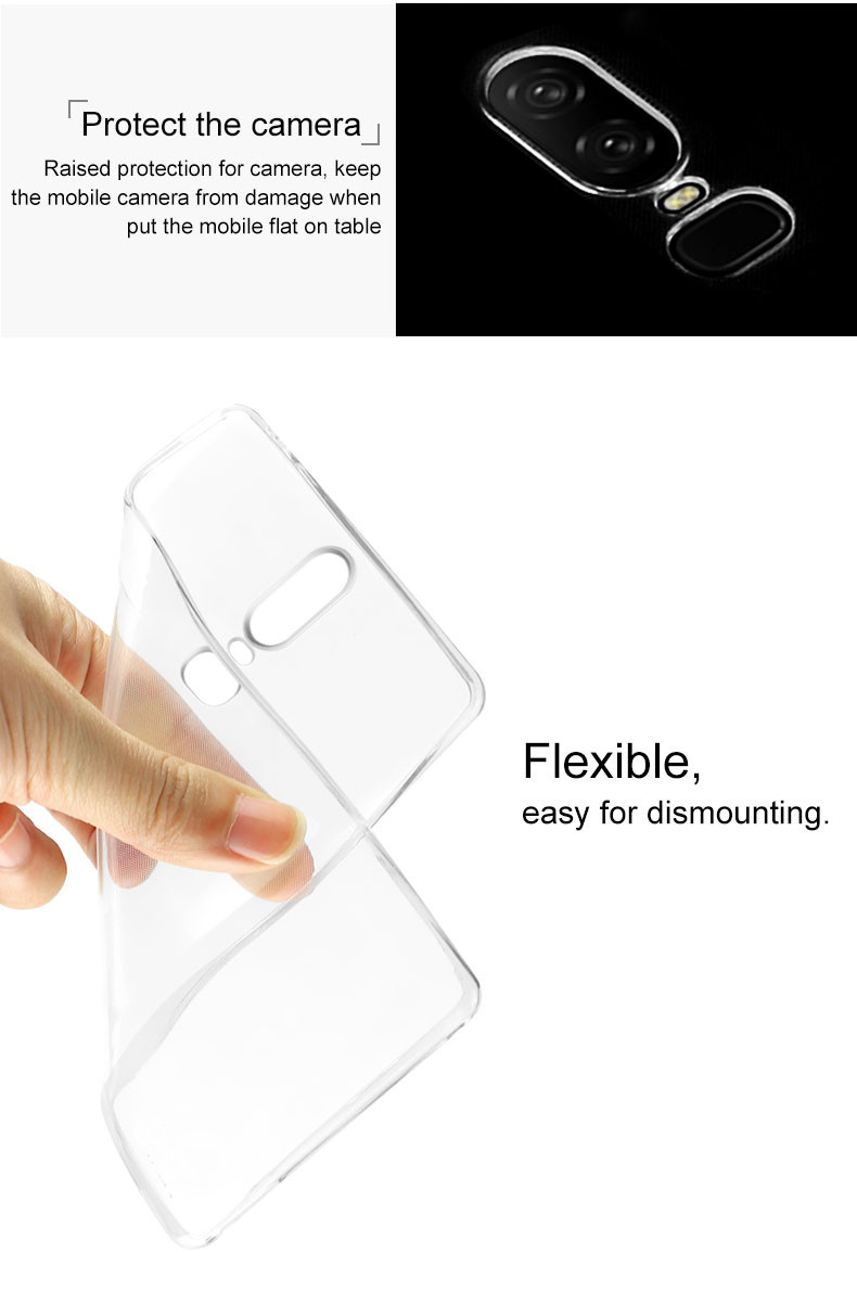 Bakeey Ultra-thin Transparent Soft TPU Protective Case For OnePlus 6