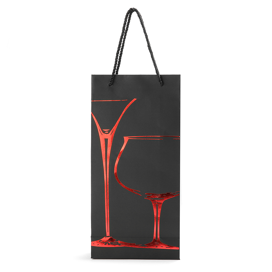 KCASA KC-PC02 Paper Wine Bottle Gift Package Bag Holder Drinks Bottle Carrier Organizer Party Supply