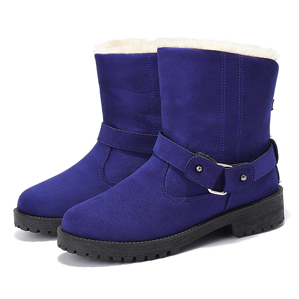 US Size 5-12 Winter Fur Lining Keep Warm Snow Boots