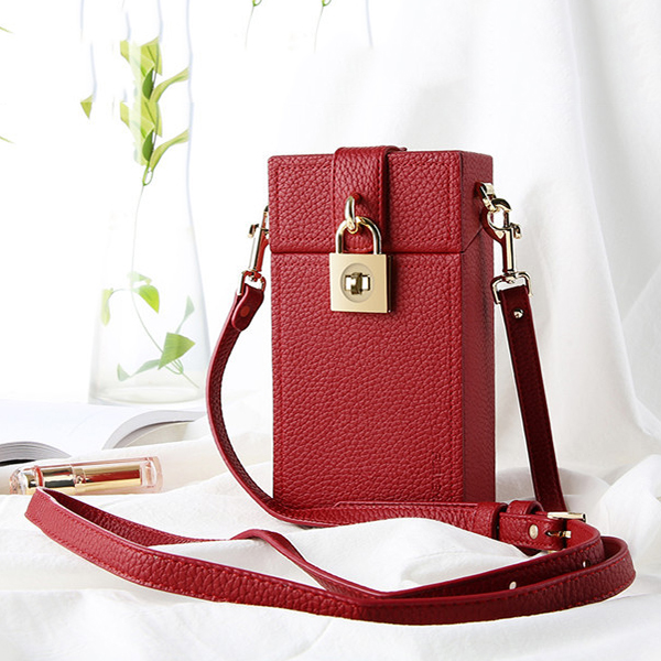 Women PU Leather Magic Box Crossbody Bag Evening Bag