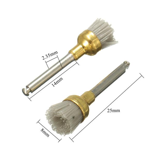 50pcs 2.35mm Shank Alumina Bowl Polishing Polisher Brush Prophy Brushes