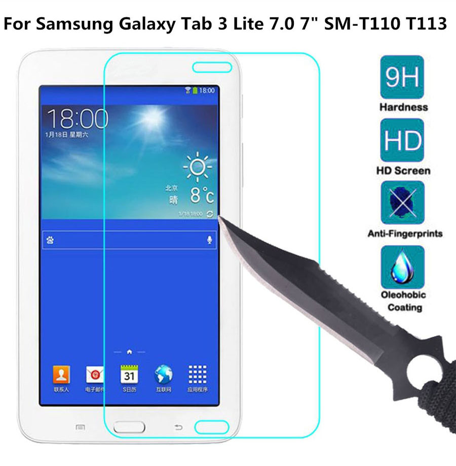 Genuine Glass Screen Protector For Samsung Galaxy Tab 3 Lite 7.0 7