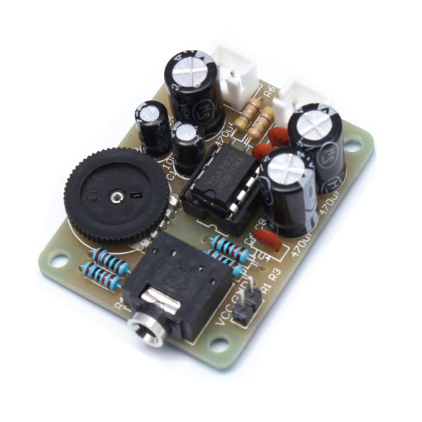 3Pcs TDA2822 Power Amplifier Audio Stereo Module DIY Kit Electronic Learning Suite