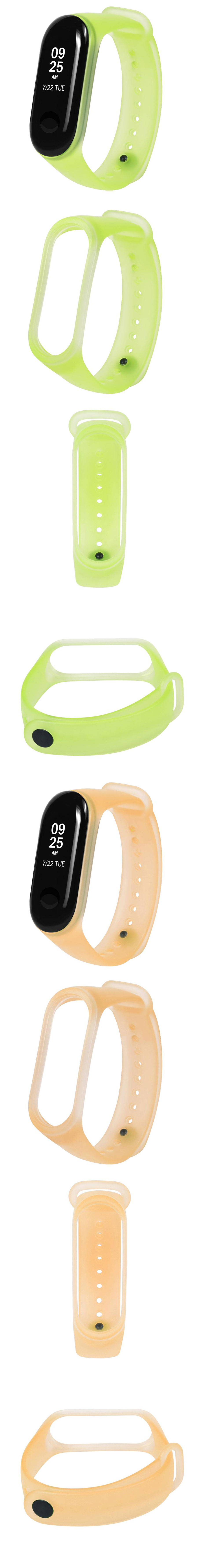 Bakeey Jelly Translucent Colorful TPE Watch Band Strap Replacement for Xiaomi Miband 3