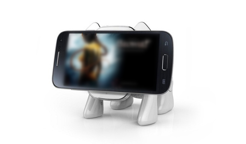 2 in 1 Mini Home Theatre bluetooth Speaker Robot Dog Phone Stand for iPhone Samsung iPad