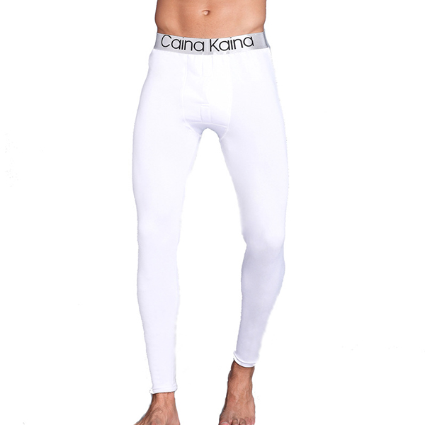 Mens Thick Warm Long Johns Autumn Winter Mid Rise Sleepwear