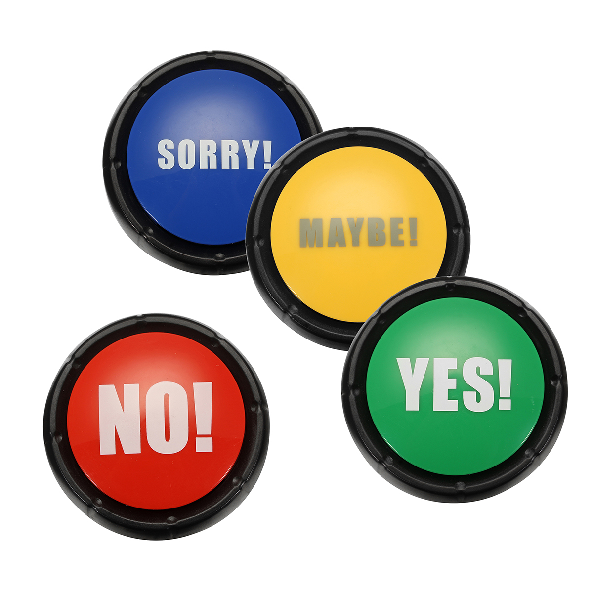 YES and NO and SORRY and MAYBE Sound Button