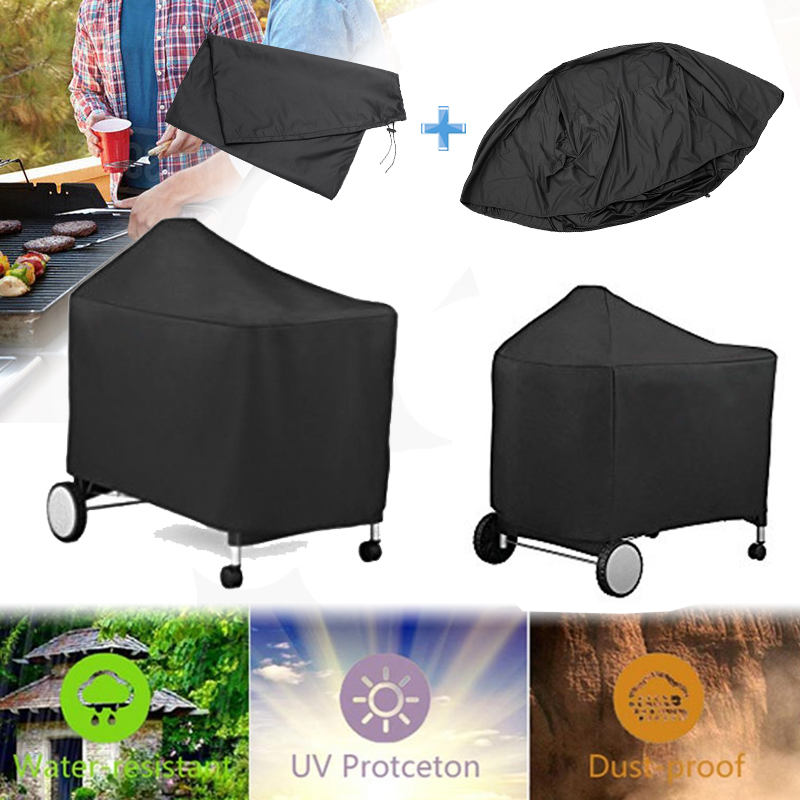 Barbeque BBQ Grill Waterproof Cover Dust Rain UV Protective Storage Bag For Weber 7152 Grills