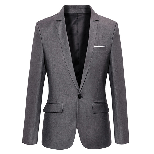Men Casual Fashion Slim Fit Suit Jacket Blazers Coat 7 Color
