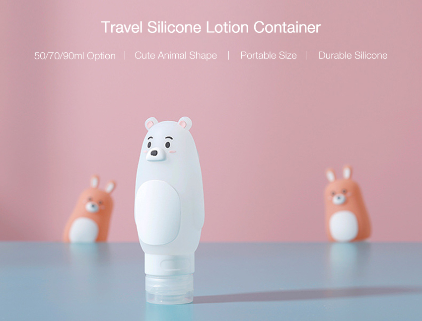 Bathroom Silicone Creative Animal Shape Portable Travel Shower Lotion Shampoo Container Suction Storage Bottle