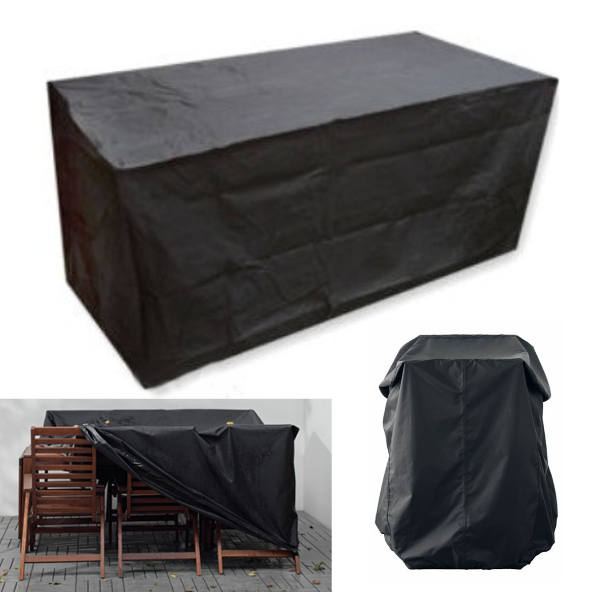 IPRee™ 4FT 123x61x72CM Outdoor Trestle Table Anti-dust Cover Waterproof Desk Chair Protector