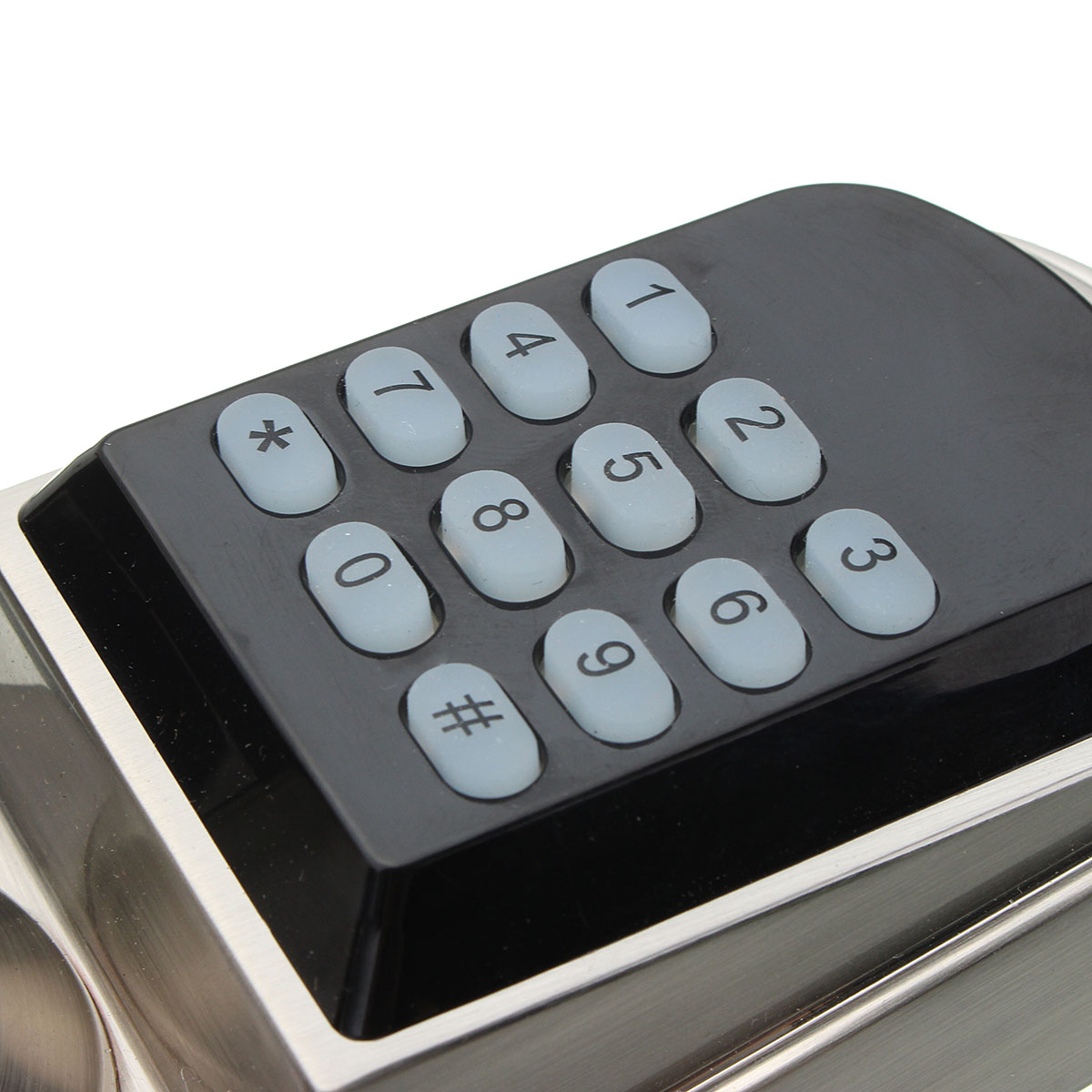 Electronic Digital Keypad Password Entry Door Lock Security Code with Key IC Card 13.56MHz