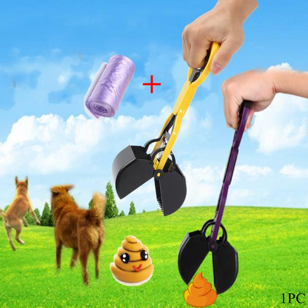 Pet Dog Cat Waste Pooper Scooper Excavator Poo Grabber Pick Dung Garden Waste Cleanup