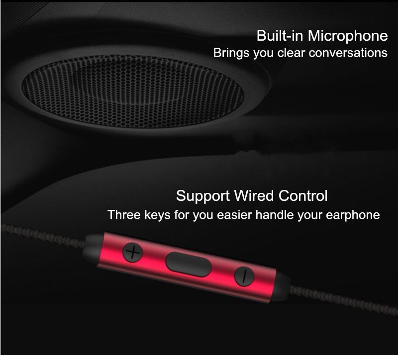 WK WE380 Noise-cancelling Flat In-ear Earphone Headphone for Mobile Phone Xiaomi Samsung S8