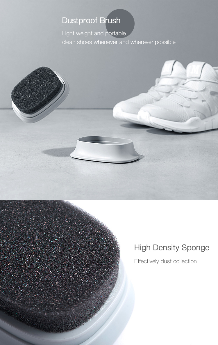 Home Portable Sponge White Shoes Canvas Leather Shoes Cleaning Tool 3 Optional Functions Shoes Brush