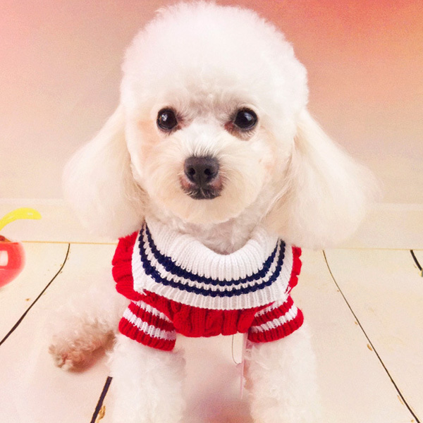 Pet Dog Cotton Navy Sweater Comfortable Warm Winter Sweater