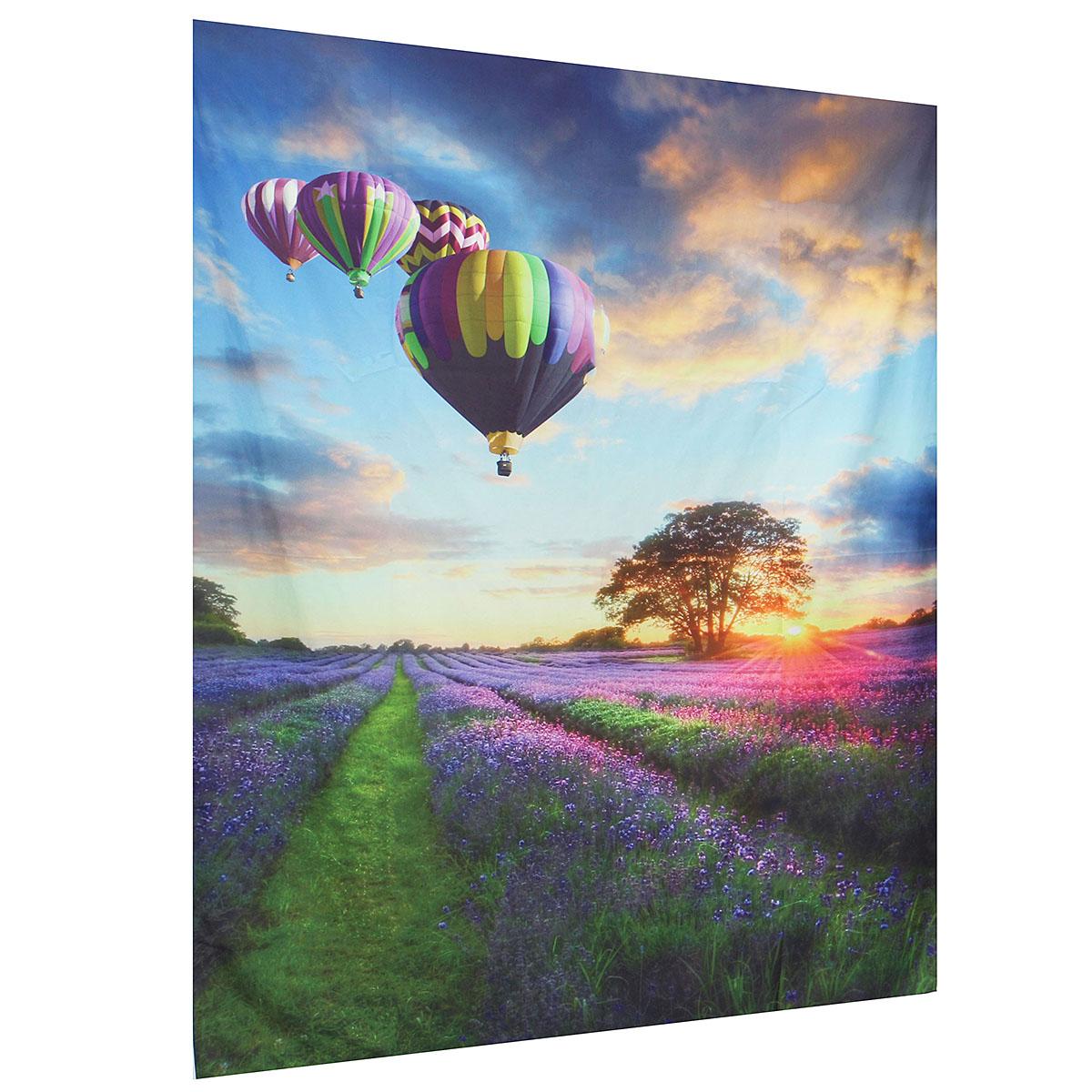 IPRee™ 150x130CM Outdoor Travel Beach Towel Mat Hot Air Balloon Lavender Bohemian Cotton Tapestry