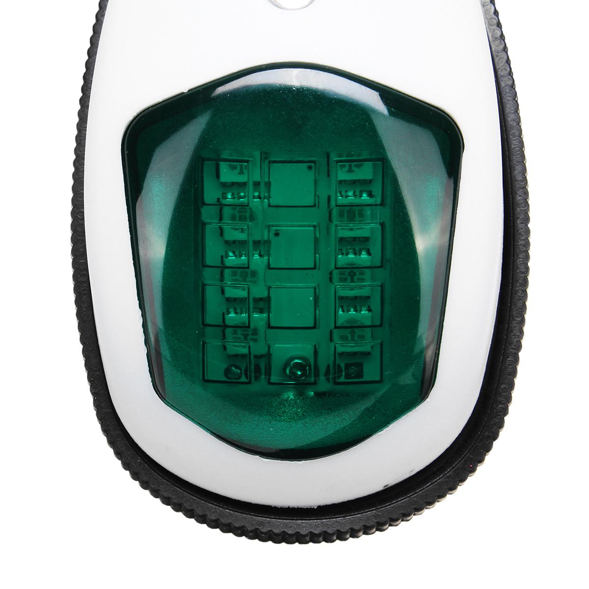 10V-30V LED Side Signal Lamp Navigation Lights For Truck Boat Trailer Van Red Green