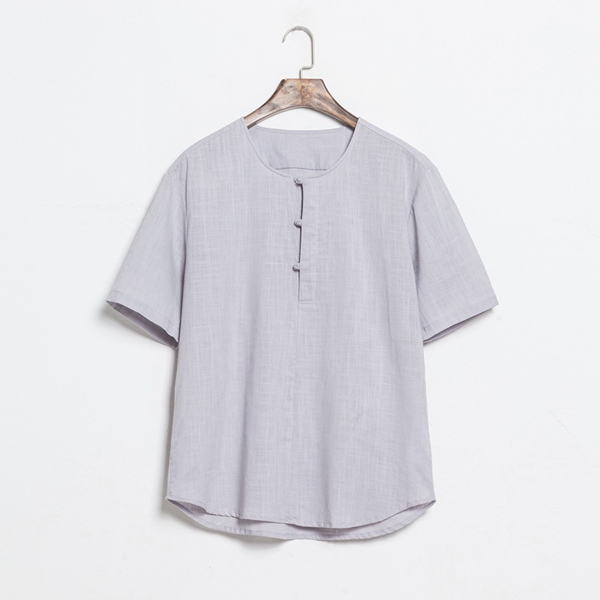 Chinese Style Retro Cotton Line Frog T-Shirt