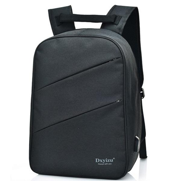 Men USB Charging 15.6″ Laptop Multi-functional Backpack