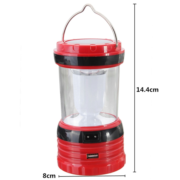 Rechargeable Solar Powered Handheld Lantern Lamp Light Torch For Outdoor Camping