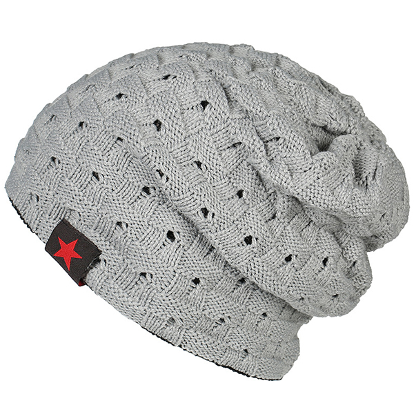 Men's Cotton Knitted Beanie Earmuffs Cap Stretchable