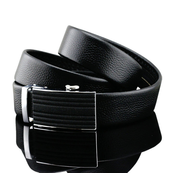 125-130CM Business Leather Strap Fashion Automatic Buckle Belt Waistband For Mens