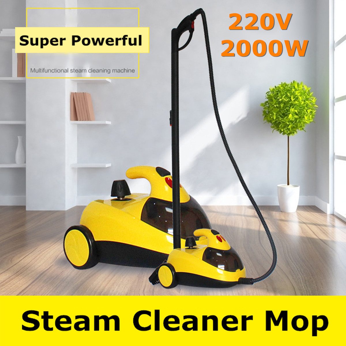 220V Multi-used Steam Cleaner Portable Floor Carpet Cleaning High Pressure Window Washing Machine