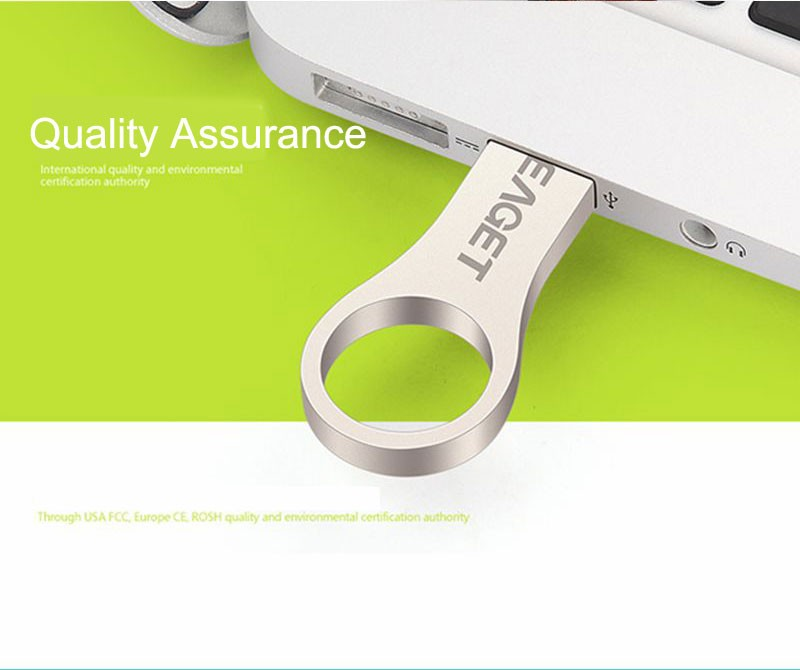 EAGET U9 Flash Drive USB 2.0 Waterproof Key Ring Pen Drive