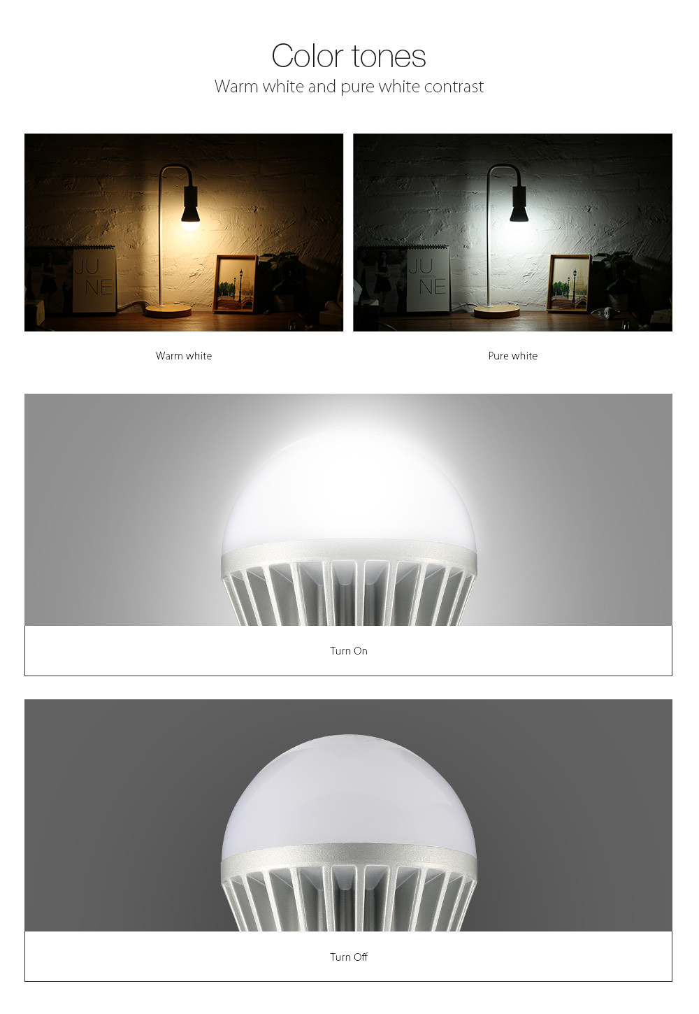 ARILUX® HL-LS03 E27 9W Warm White/Pure White Non-dimmable LED Globe Light Bulb AC100-240V