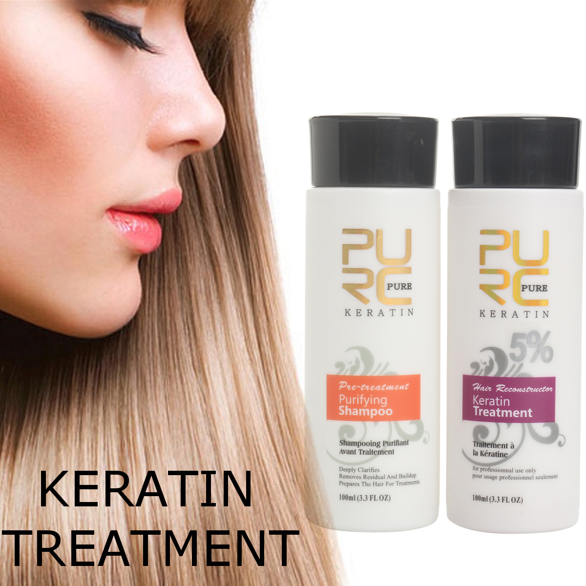 Pure Chocolate Brazilian Keratin Purifying Shampoo 100ml Hair Straightening Repair Treatment For Hair Care