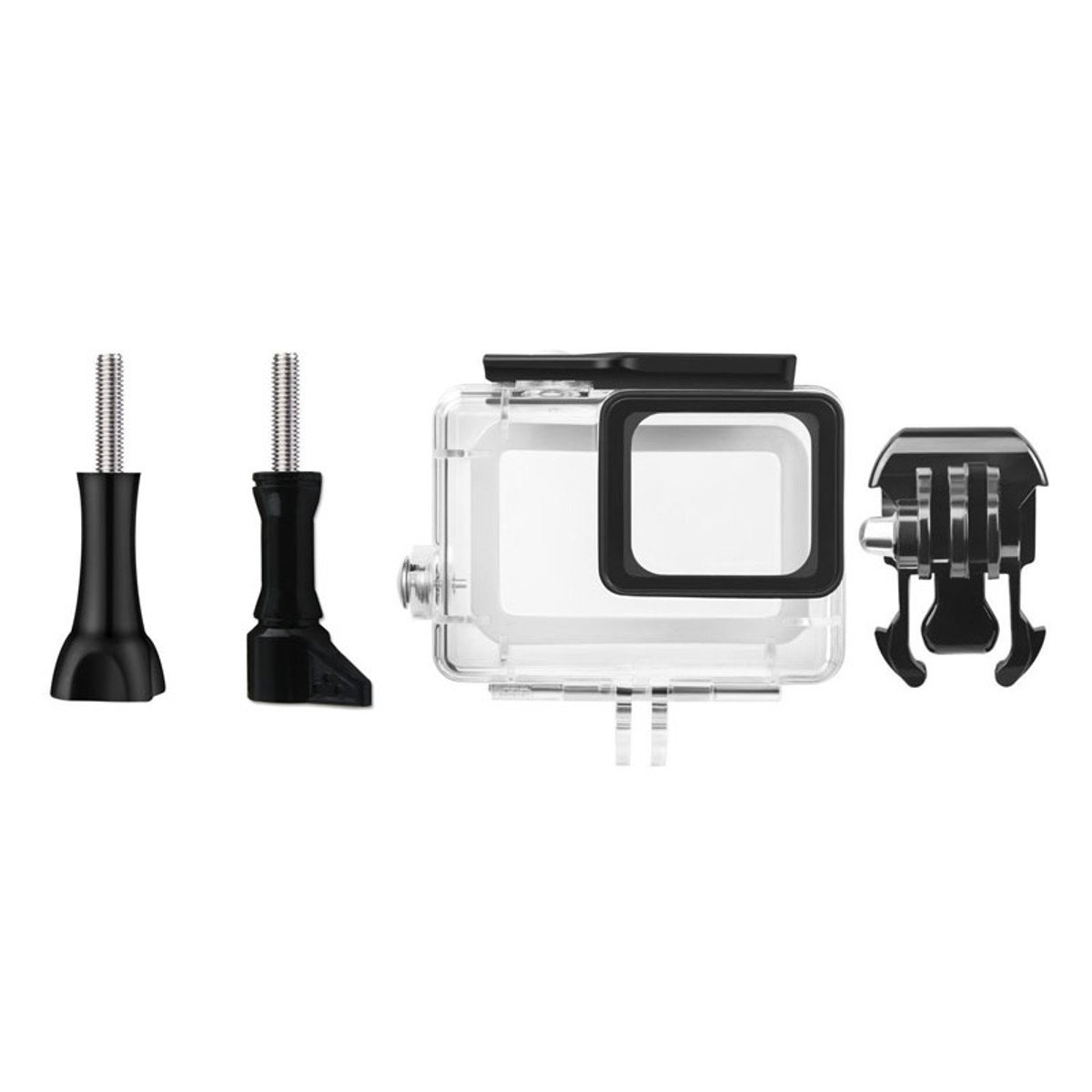 Diving Waterproof Housing Case Lens Cap Film Accessory Kit For GoPro Hero 6 5 Black Sport Camera