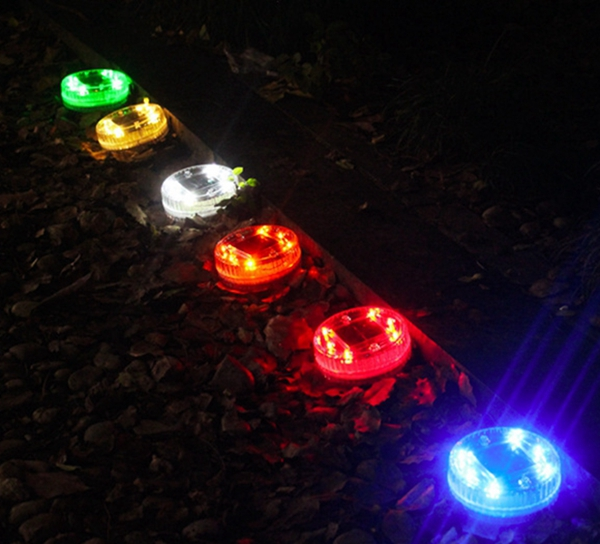 Solar 6 LED Underground Buried Light Waterproof Outdoor Garden Lawn Landscape Pond Floating Lamp